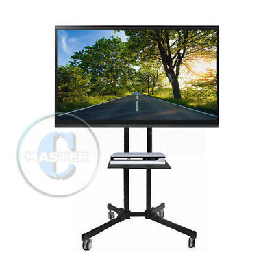 """Pro Mobile Flat Panel Stand Mount Cart Station Monitor Fair Show Display Tv 60"""""""