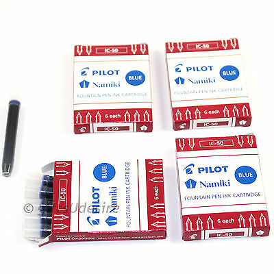 24 x PILOT / NAMIKI Ink Cartridges - Blue Ink- IC-50 -Fits Capless Fountain Pen