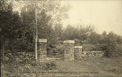 Buxton ME Entrance to the Woodman Reservation Brick Wall Old RPPC
