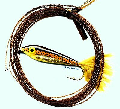 Wonderfurl Brown Recluse Furled Fly Fishing Leader with Tippet Ring