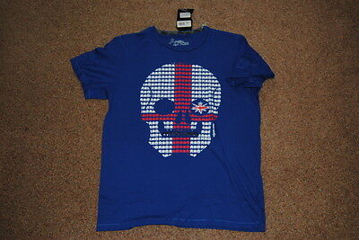 Joystick Junkies England Skull Invaders T Shirt Bnwt Official Official Rugby