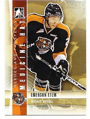 50ct Emerson Etem 2011-12 ITG Heroes & Prospects Hockey Update Rookie Lot #233
