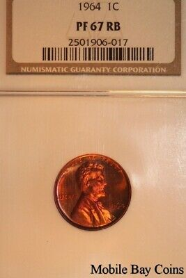 Lovely 1964-P Lincoln Rev. Memorial Penny NGC - Proof 67 Red/Brown (2501906-017)
