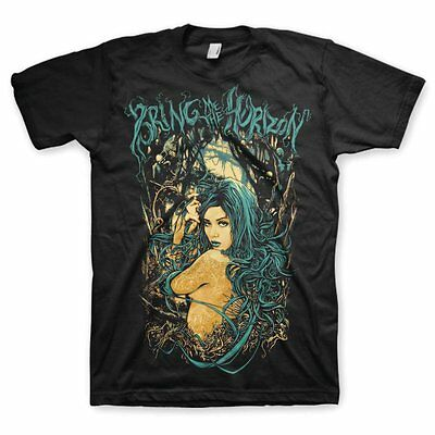 BRING ME THE HORIZON Forest Girl T-Shirt NEW & OFFICIAL All Sizes Logo BMTH Amo