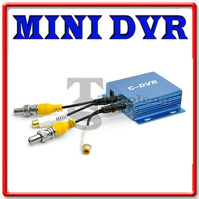 Mini Dvr Portatile 1 Ch Audio Video In Out Registra Scheda Tf Micro Sd Telecamer