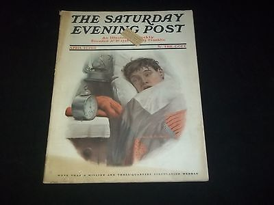 1912 APRIL 27 SATURDAY EVENING POST MAGAZINE - ILLUSTRATED FRONT COVER - GG 370