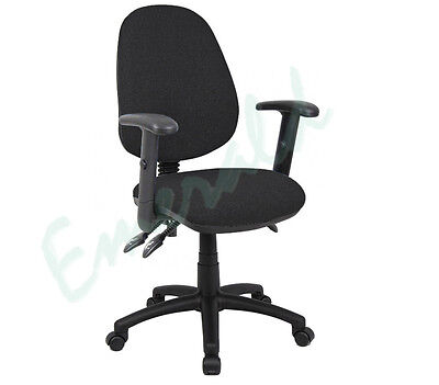 High Back Office Operator Computer Chair Black - Optional Arms - Fast Dispatch