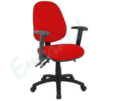 High Back Office Operator Computer Chair Red - Optional Arms - Fast Dispatch