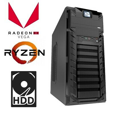 AMD Ryzen 3 2200G 4-Core Max 3.7GHz Desktop Computer 8GB 1TB Vage Gaming PC