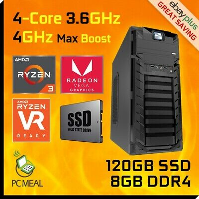 AMD 4-Core Ryzen 3 2200G 3.7GHz 1TB 4GB Radeon Vega 8 Gaming Computer Desktop PC