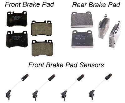 Rear Brake Pad KIT with Sensors NEW Mercedes W203 C320 Base Sedan TEXTAR Front
