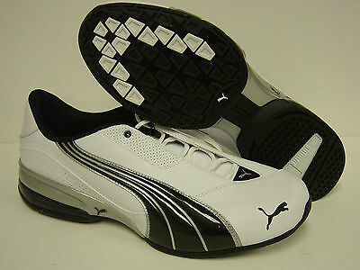 9f48b29d1978 NEW Mens PUMA Cell Jago 6 185009 09 White Black Silver Sneakers Shoes