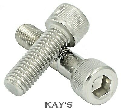 "Unc Cap Screws A2 Stainless Steel Allen Key Bolts 8,10,1/4,5/16,3/8,7/16,1/2""unc"