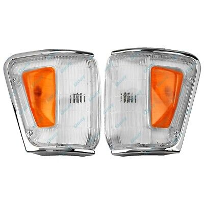 Toyota Hilux 4WD 88-91 CHROME TRIM Corner Indicator Lights LEFT+RIGHT PAIR LH+RH