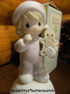 Precious Moments~BELL~Dated 1993~530174~Wishing You The SWEETEST Christmas~bfly