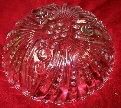 Anchor Hocking Fire King Crystal Fruit Bowl Oyster and Pearl Vintage Collectible