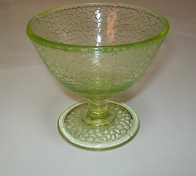 L E Smith Depression Glass Green By Cracky Sherbet Glass