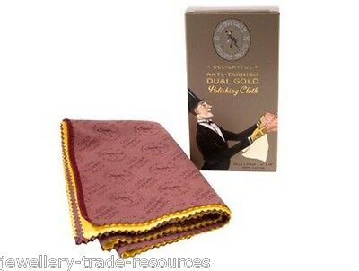 Town Talk Dual Gold Polishing & Cleaning Cloth For Jewellery & Jewellers