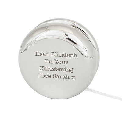Personalised Silver Finished Engraved YoYo -Great Wedding Favour, Page Boy, Baby