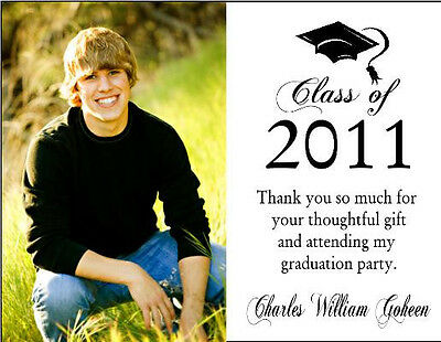 Graduation Graduate PHOTO Party Thank You Note Cards Personalized Custom