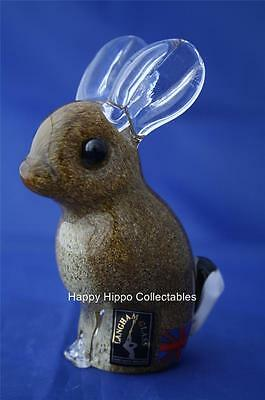 Langham Glass Hand-Made Crystal Brown Rabbit - New / Boxed