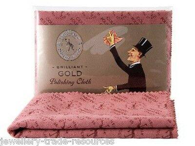 30cm x 45cm TOWN TALK GOLD POLISHING & CLEANING CLOTH FOR JEWELLERY & JEWELLERS