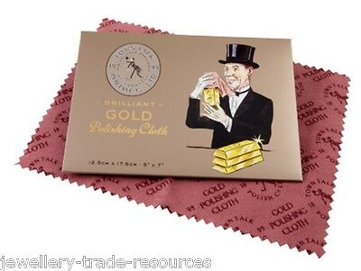 12cm x 17cm TOWN TALK GOLD POLISHING & CLEANING CLOTH FOR JEWELLERY & JEWELLERS