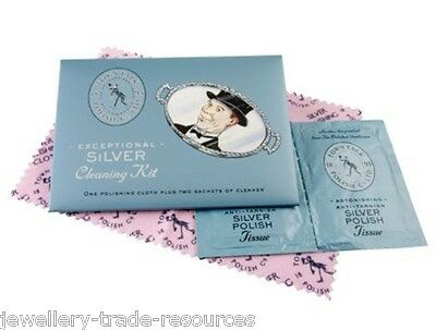 Town Talk Silver Polishing & Cleaning Care Kit & Cloth For Jewellery & Jewellers