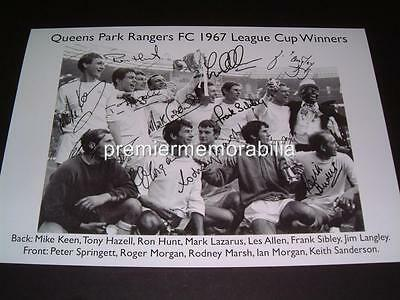 Queens Park Rangers Fc 1967 League Cup Winners Signed (Printed) Exclusive Print