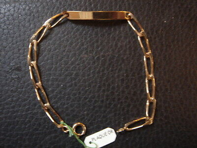 Tres Belle Gourmette Vintage 1970 Plaque Or  Neuf/new/old Bracelet Gold Plated