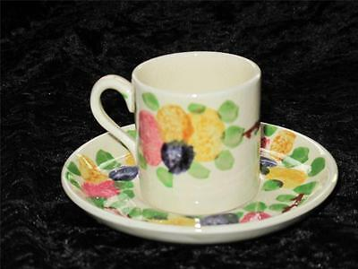 Vintage Art Deco Espresso Coffee Cup & Saucer Ridgways 'California' Pattern 6962