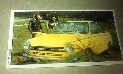 1971 DAF 55 COUPE  Daily Express UK Trade Swap Card