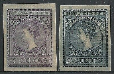 Netherland Indies 1906 NVPH 60-61 Imperforated PROOFS  UNG  VF