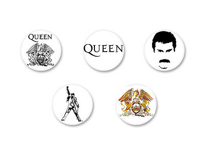 Lot Badge Button Ø25mm Queen Freddy Mercury UK Rock We Will Rock You