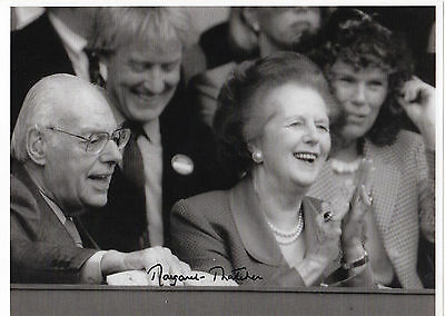 MARGARET THATCHER personally signed - 12x8