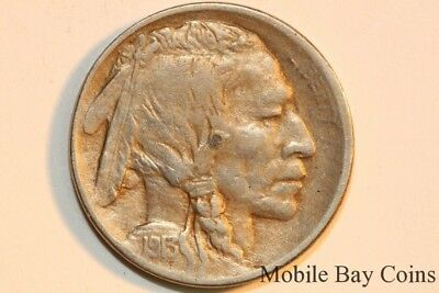 About Uncirculated 1913 Denver Mint Buffalo Nickel or Five Cents (BNX641)