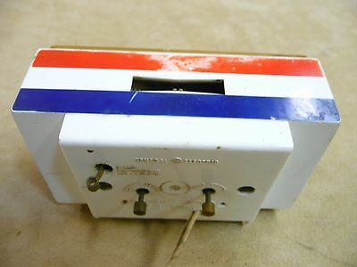 1976 GE electric alarm clock General Electric Red White Blue RARE FIND works! 76