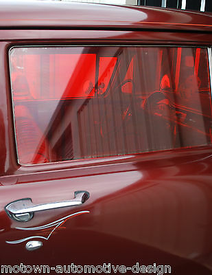 GASSER WINDOW TINT RED RAT ROD STRAIGHT AXLE 55 56 57 Chevy cal custom Bel Air