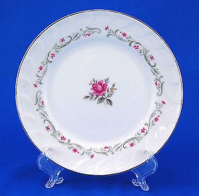 Fine China of Japan ROYAL SWIRL 109 Bread and Butter Plate 6.375 in. Pink Rose