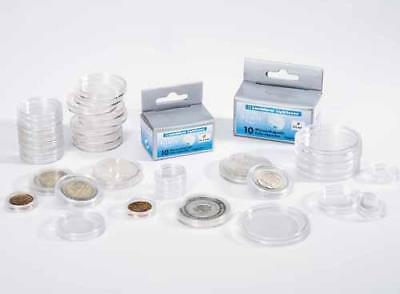 10 Boxed Lighthouse coin capsules all sizes available 28-41mm