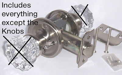 Depression Knob PRIVACY RETROFIT KIT-To Fit Your ANTIQUE KNOBS IN MODERN DOORS