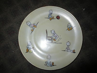 Vintage Austrian Empire plate cute bald baby graphics