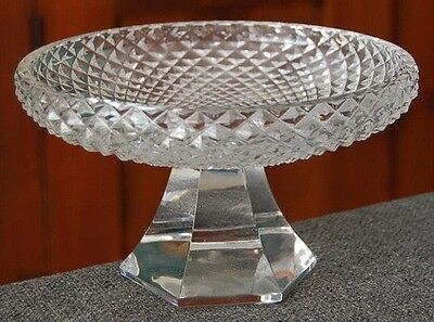 Gorgeous Cut & Faceted French Crystal Pedestal Compote