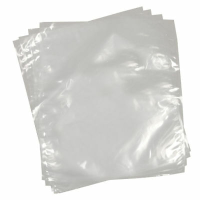 "25 Clear Polythene Plastic Bags 15"" x 20"" Open Top  375x500mm Craft  Light Duty"