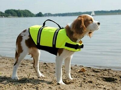 Paws Aboard doggy life jacket vest  small 15-20lbs dog K9 S high vis yellow 1300