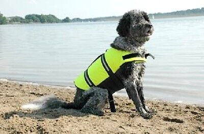 Paws Aboard doggy life jacket vest Large 50-90 lbs dog K9 L high vis yellow 1500