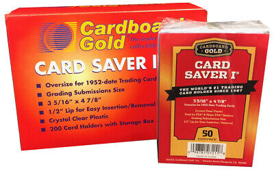 CBG 4000 4,000 Card Saver I 1 Semi Rigid Sports Card Holder Cardboard