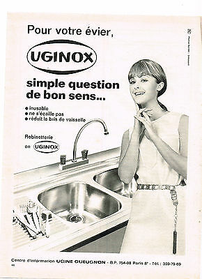 Breweriana, Beer Publicité Advertising 1969 Uginox Acier Inoxydable Machine à Laver M Collectibles