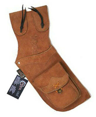 Traditional Archery Leather Side/hip Arrow Quiver Aq112 Right Hand Brown