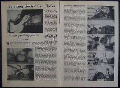 Servicing vintage Auto CLOCKS Electric 1948 How-To INFO
